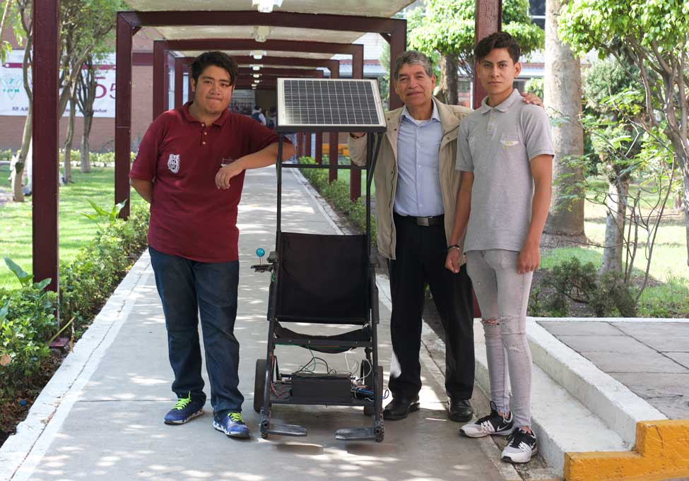 Silla de ruedas solar