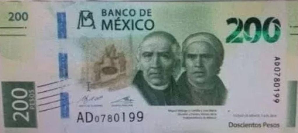 nuevo billete de 200 pesos