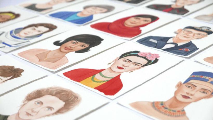 Ilustraciones de mujeres ilustres